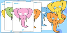 One Elephant Went Out to Play Role Play Masks