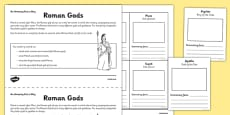 Roman Gods Activity Sheet