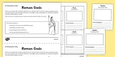 Roman Gods Activity Sheet