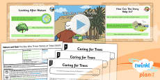 PlanIt - RE Year 2 - Nature and God Lesson 6: The Boy Who Threw Stones at Trees (Islam) Lesson Pack