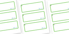 Palm Tree Themed Editable Drawer-Peg-Name Labels (Blank)