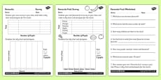 Favourite Fruit Tally and Pictogram Worksheets