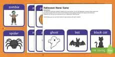 Halloween Name Game
