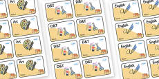 Tiger Themed Editable Book Labels