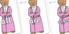 Tricky Words on Mummy Bear