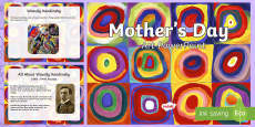 * NEW * KS1 Mother's Day Art PowerPoint