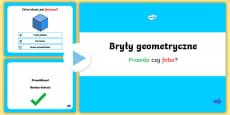 Prezentacja PowerPoint Quiz Bryły geometryczne