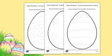 Easter Egg Pencil Control Activity Sheets Polish