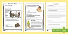 * NEW * KS2 The Great Plague Differentiated Reading Comprehension Activity