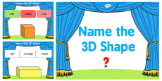 Name the 3D Shape Year 3 PowerPoint Quiz