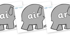 Phase 3 Phonemes on Elephants to Support Teaching on Elmer