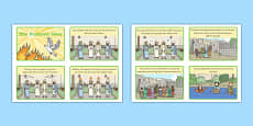 Pentecost Sequencing Cards Story Cards