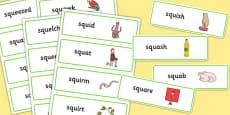 SQU Word Cards
