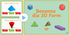 * NEW * Benenne die 3D Form Quiz PowerPoint