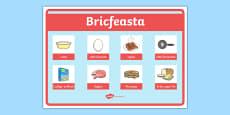 An Bhialann The Restaurant Role Play Breakfast Sign Irish Gaeilge