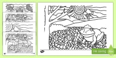 Tiddalick the Frog Colouring Pages