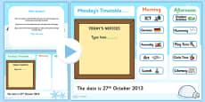 KS1 Visual Timetable Interactive PowerPoint Winter