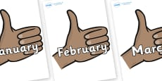 Months of the Year on Thumbs Up