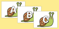 A-Z Alphabet on Snails
