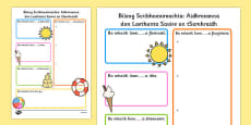 Summer Holiday Hopes Write Up Activity Sheet Gaeilge