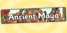 Ancient Maya Display Banner