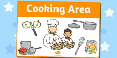 Cooking Area Sign