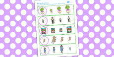 The Enormous Turnip Size Matching Worksheets