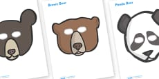 Bear Role Play Masks