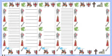 St George's Day Page Borders