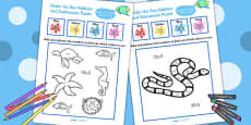 Under the Sea Themed Addition and Subtraction Puzzle 0-20