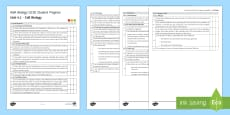 AQA Biology Unit 4.1 Cell Biology Student Progress Sheet