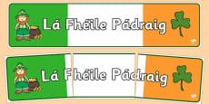 Saint Patrick's Day Banner Gaeilge