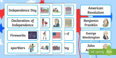 Independence Day Word Cards