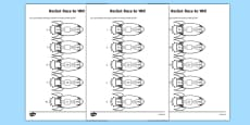 Rocket Race to 100 Activity Sheet