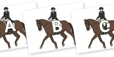 A-Z Alphabet on Equestrian (Horses)