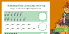 Thanksgiving Counting Sheets