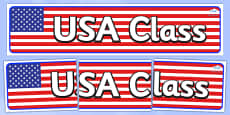 USA Themed Classroom Display Banner