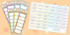 Year 2 Maths Assessment Bookmarks and Cut Outs