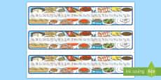 Recta alfabética: La comida