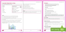 Anaerobic Respiration in Yeast Investigation Instruction Sheet Print-Out