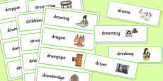 Two Syllable DR Word Cards