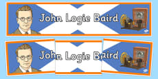 Scottish Significant Individuals John Logie Baird Display Banner