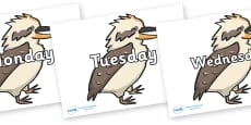 Days of the Week on Kookaburras