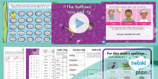 PlanIt English Y2 Term 3A W2: The suffixes -less and -ly Spelling Pack