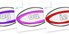 Phase 5 Phonemes on Rugby Balls