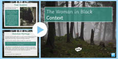 * NEW * The Woman in Black Jennet's Context Lesson Pack