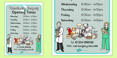 Vets Surgery Opening Times