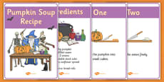 Halloween Pumpkin Soup Recipe Sheets Vegetarian