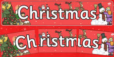 Christmas Display Banner