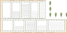 Poplar Tree Themed Page Borders